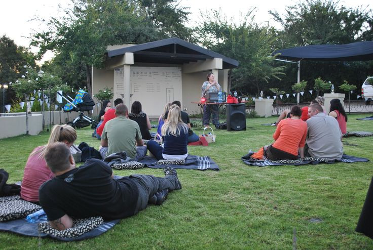 #Bridal Couple of the Year function: An evening of old:  movies, a blanket and a picnic in the open at #Thaba Tshwene #Game #Lodge www.thabatshwene.co.za