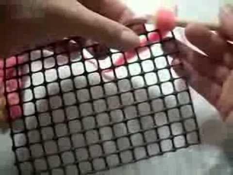 instrucciones aguja nuk para hacer alfombras - YouTube