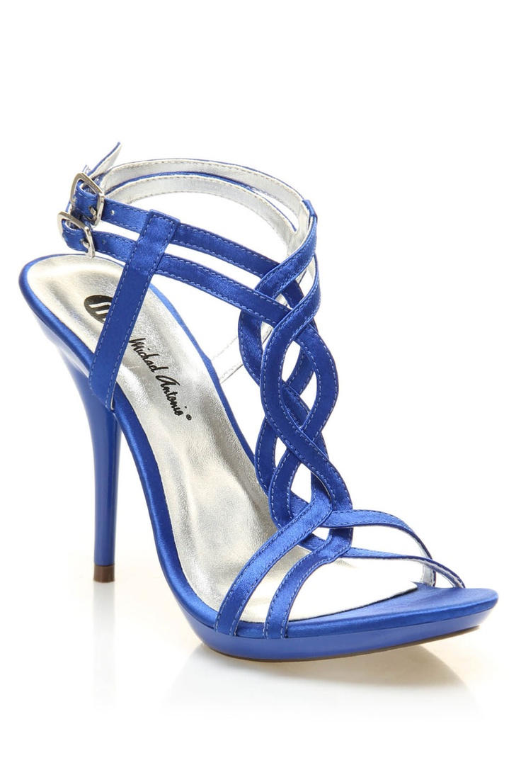 michael antonio riordan-satin sandals in blue - These are so pretty!  Wish the heels were a little shorter though....  :/