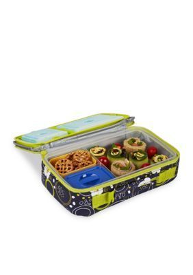 fit fresh navy bento lunch box container set with insulated carrier and reusable ice packs - Reusable Ice Packs
