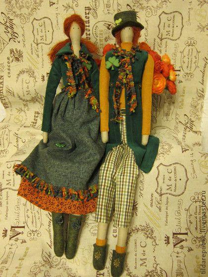 """Куклы Тильды ручной работы. Ярмарка Мастеров - ручная работа Тильды для влюбленных в Ирландию """"День Святого Патрика"""". Handmade."""
