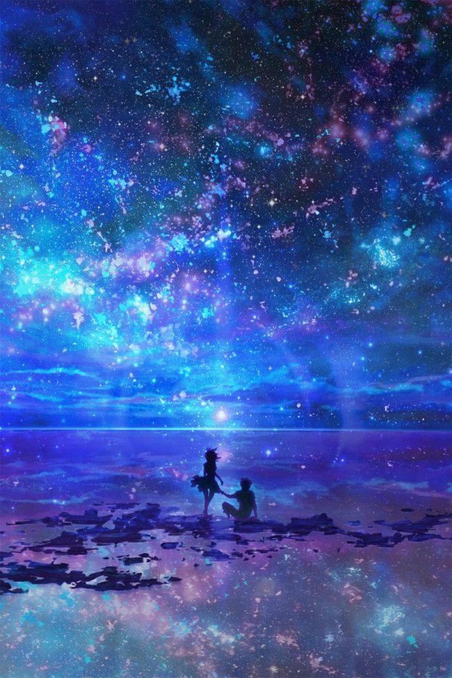 In Den Nachthimmel Poster Hintergrund