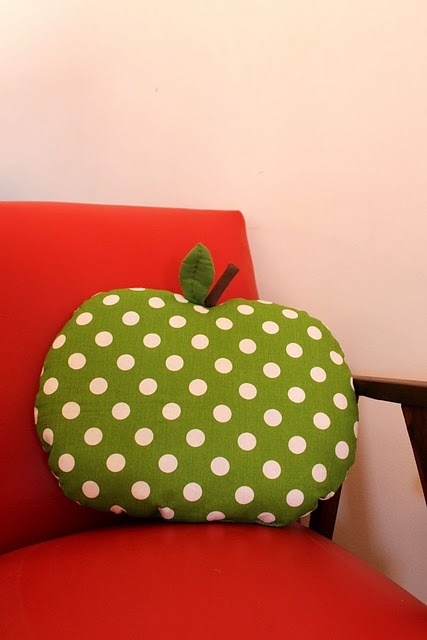 Day 95 - apple shaped cushion
