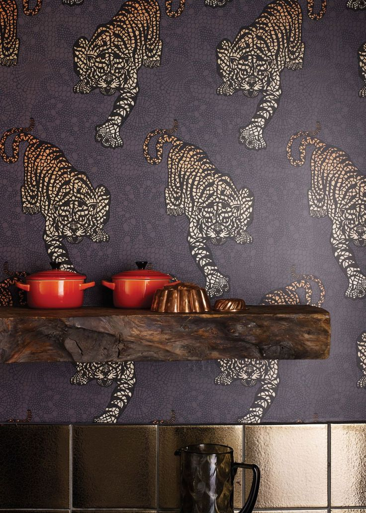 Grey Tyger Tyger Wallpaper - Wallpaper - Matthew Williamson