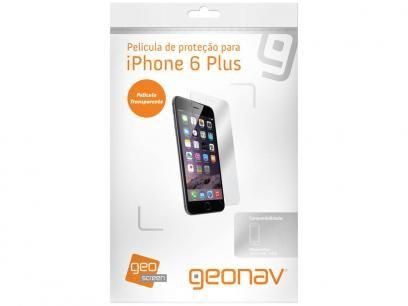 Película Protetora para iPhone 6 Plus Transparente - Geonav Clear com as melhores condições você encontra no Magazine Pereira69. Confira!