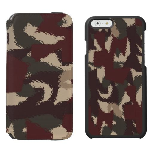 Abstract Military Camouflage Pattern / Incipio Watson™ iPhone 6, 2-in-1 Wallet Case + Interior Case! #fomadesign