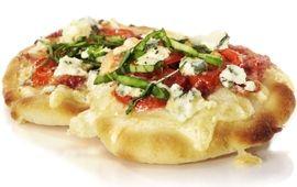 Minipizza med två ostar