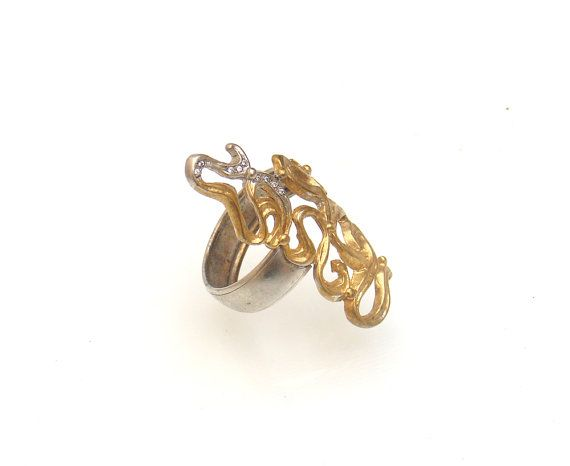 Womans Long Ring // Octopus Ring // Stylish Gift by profoundgarden
