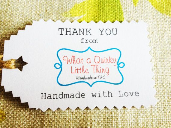 Thank you tags Gift Tags Message Tags by WhataQuirky on Etsy