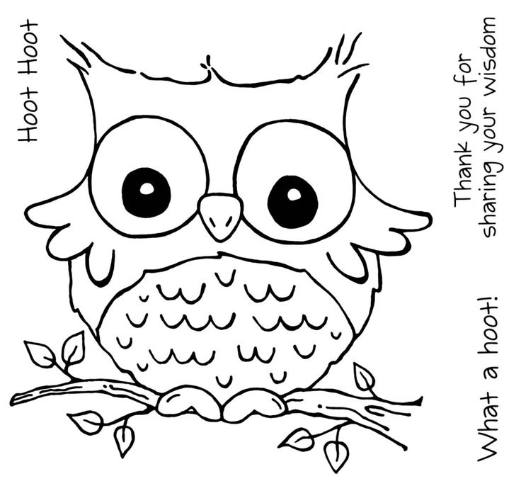 free cute owl coloring pages to print