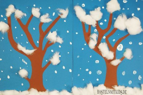 Winterdeko basteln Schneetreiben – Schule