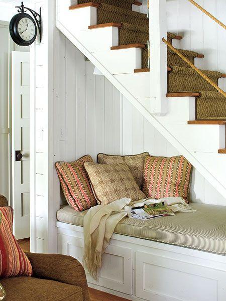 cozy, nook, interior design, myhomeideas, reading, corner, quiet reading by define1lady, via Flickr