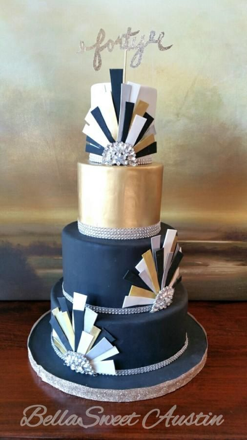 Art Deco Glam cake by BellaSweet