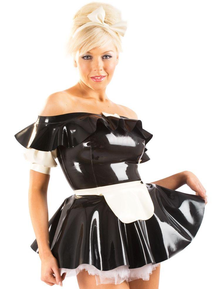 latex maids costumes