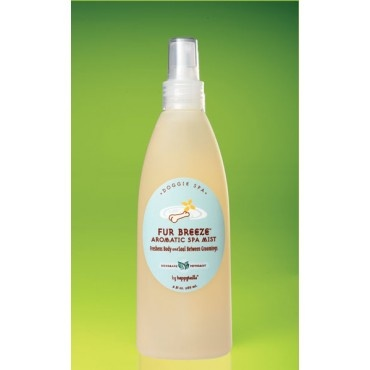 Happytails Fur Breeze (Citrus & Vanilla) from Tall Trees Eco Store ~ covers that between bath doggy smell perfectly!