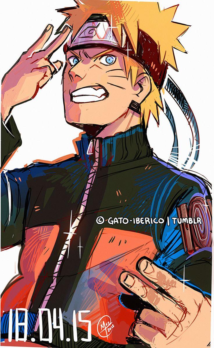 A messy sketchy Naruto  -  ©Gato-Iberico   Ramen-shuriken