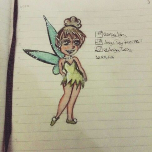 Chibi Tinkerbell #drawing #illustration #disneyart #disneyfairies #tinkerbell