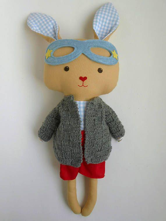 knit wear doll clothing on a superbunny by La Loba Studio
