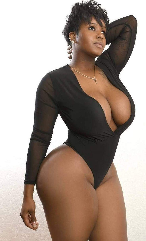 Plus Size Sexy Model Black Bra Stock Photo