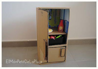 Diy una cocina con cajas de cart n 2 parte la nevera - Cajas para cocina ...