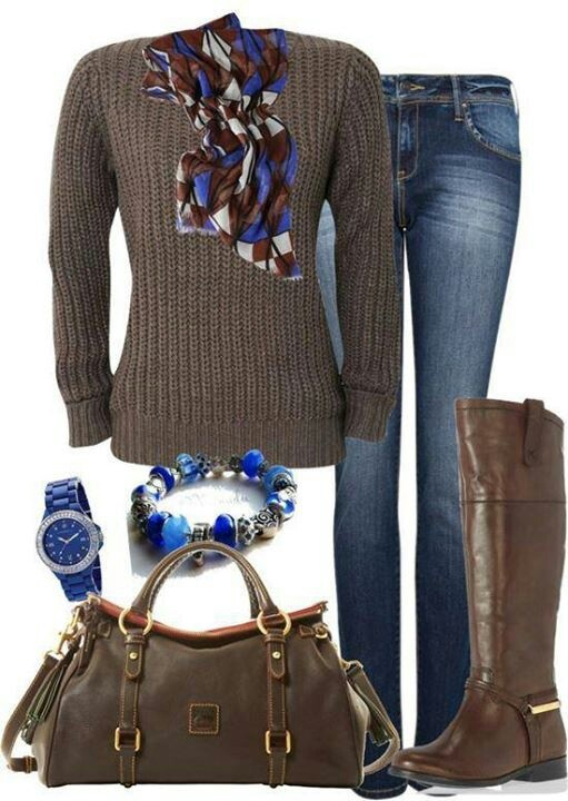 Jeans outfit for winter