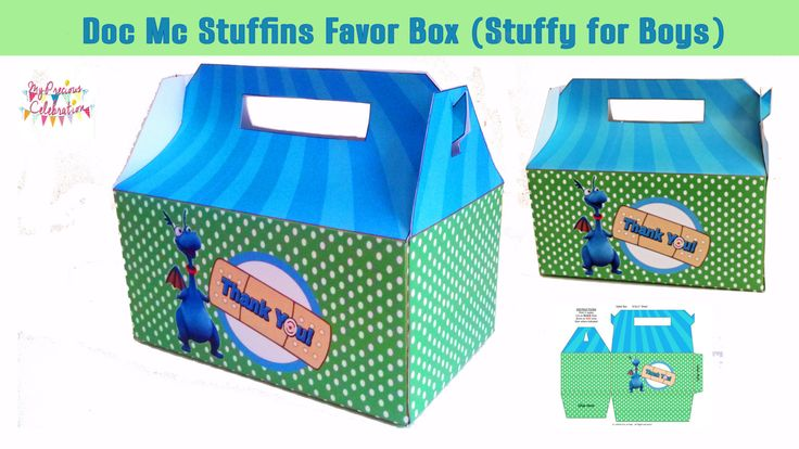 STUFFY DOC MCSTUFFINS favor boxes Doc Mc por PreciousCelebration
