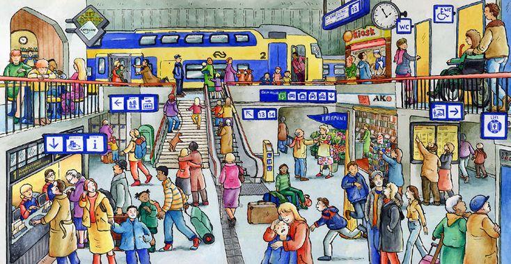Het treinstation praatplaat