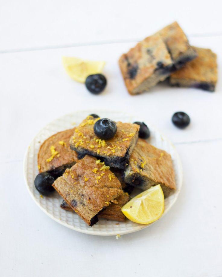 tone it up nutrition plan healthy recipe blueberry lemon zest breakfast cake bar protein bikini series