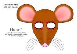 Three Blind Mice role-play masks (SB187) - SparkleBox