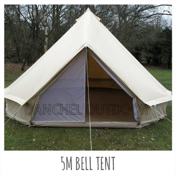 DANCHEL 5M <b>Cotton Canvas</b> Bell <b>Tent</b> Waterproof <b>tipi tent</b> with ...