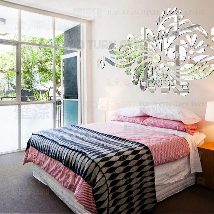 Творческий богемия этническая тотем акриловое зеркало спальня декор 3d отделка стен гостиной клей на уолл-зарядное ML-228