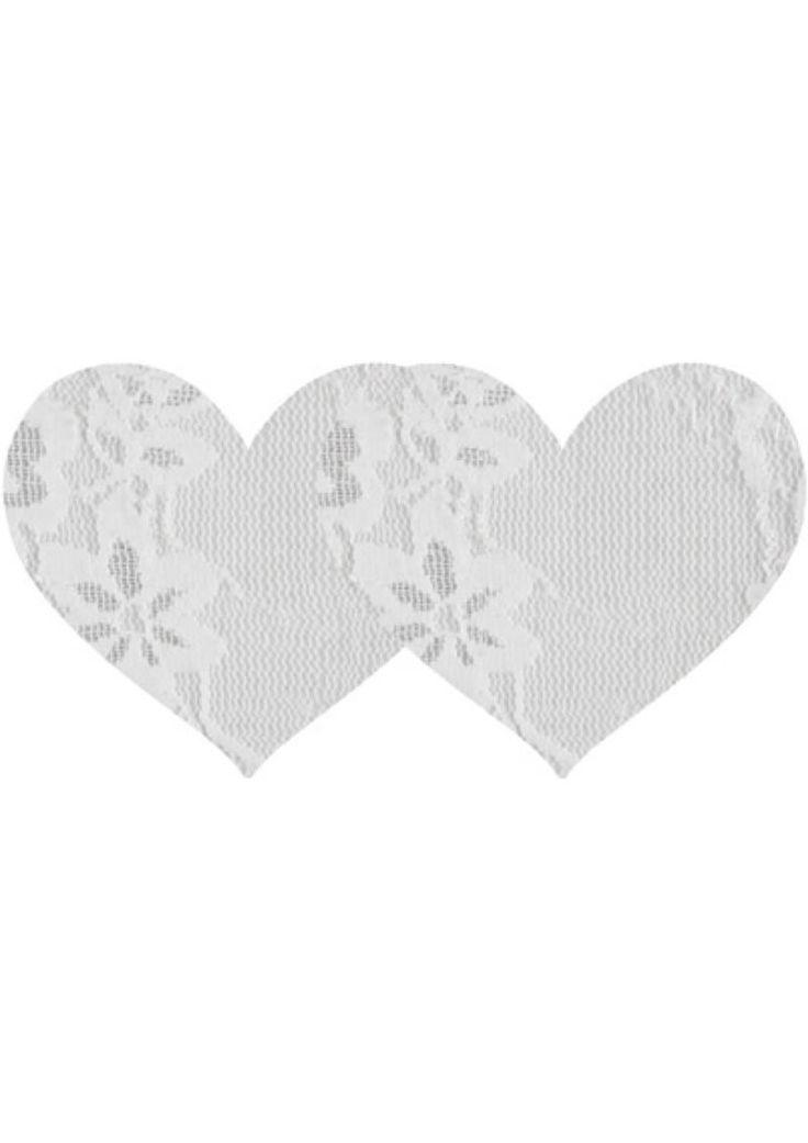 Buy White Lace Heart - 2pk online cheap. SALE! $8.99