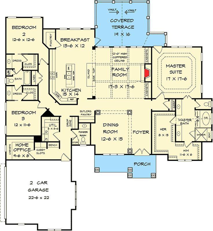 Contemporary Art Sites Plan DK One Level Luxury Craftsman Home