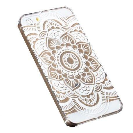 Coque mandala blanc Iphone - 4S / 5 / 5S / 6 chez Pretty Wire Home (6,90 euros)                                                                                                                                                     Plus