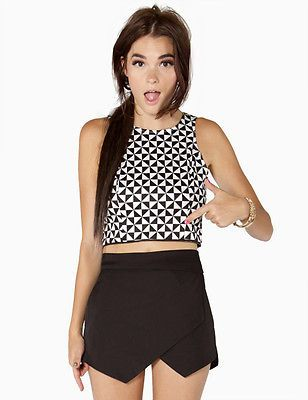 Tulip Origami Skort in Black