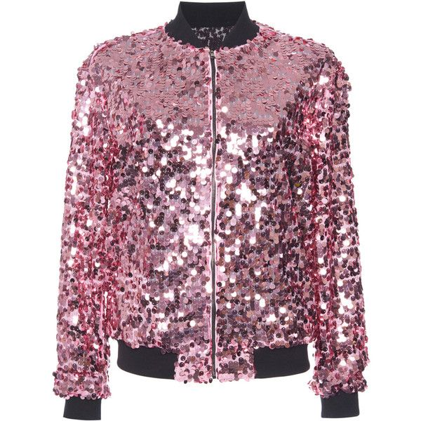 Giamba     Sequin Bomber Jacket ($1,135) ❤ liked on Polyvore featuring outerwear and jackets