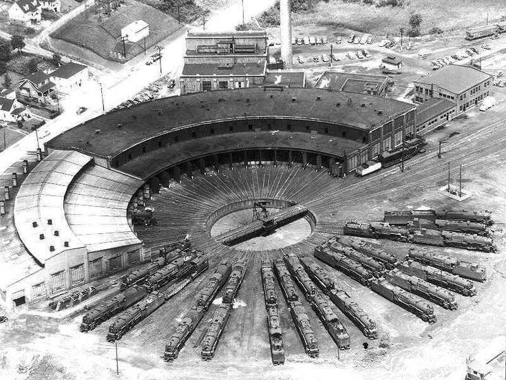 Crestline Ohio. Round house, Railroad photos