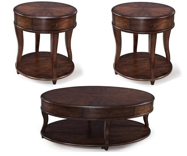 Madelyn Transitional Coffee MDF Wood Coffee Table Set