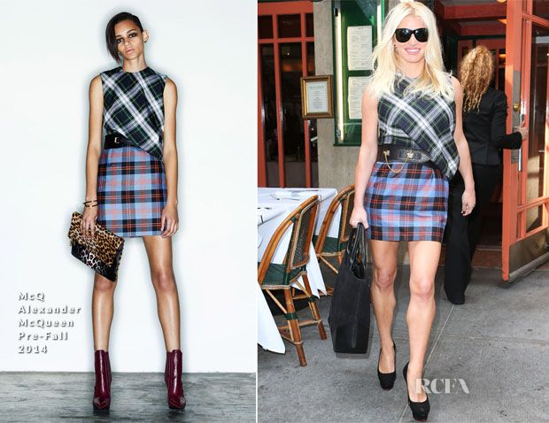 Jessica Simpson In McQ Alexander McQueen - Out In New York City - Red Carpet Fashion Awards