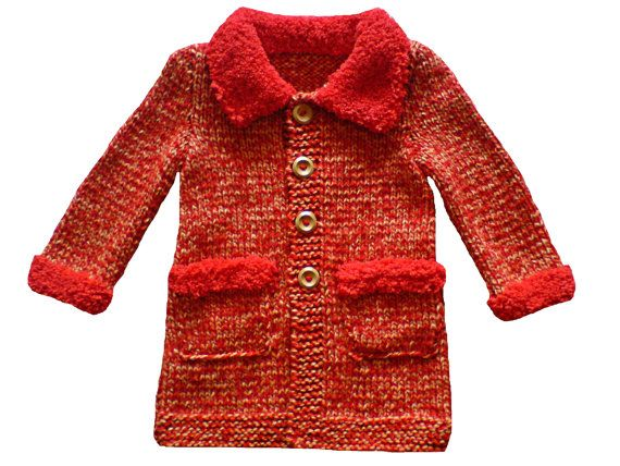 Handknit baby coat for girls. by woolopia on Etsy, $55.00