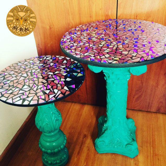 Mesas en yeso con resina
