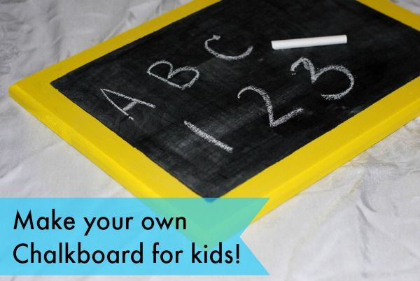 Easy to make! DIY Chalkboard for Toddlers  @mommymandy