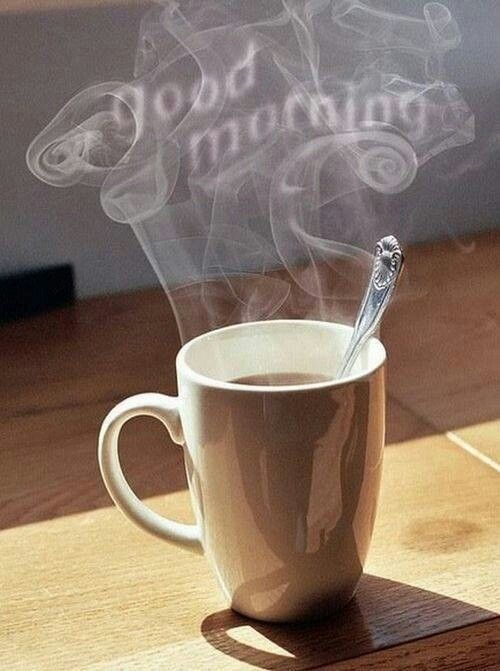 mmm, that first sip of hot coffee in the morning !
