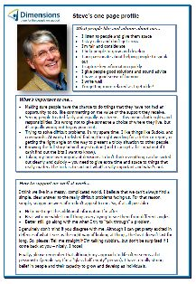 Steve Inch's workplace one-page profile. Read it in full here: http://onepageprofiles.files.wordpress.com/2013/11/34-steve-inchs-one-page-profile-from-jo-greenbank.pdf
