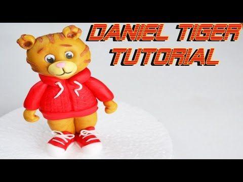 DANIEL TIGER CAKE TOPPER SUGAR PASTE - TORTA DECORATA IN PASTA DI ZUCCHERO - YouTube