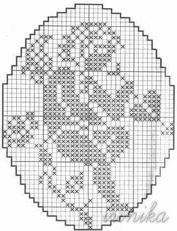 Deckchen mit Engelmotiv Häkelschrift