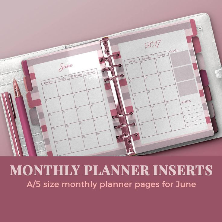 Monthly planner inserts / blog planner inserts / monthly planner printable / monthly organizer /PINK FLOWERS planner kit by JKBlogBrand on Etsy