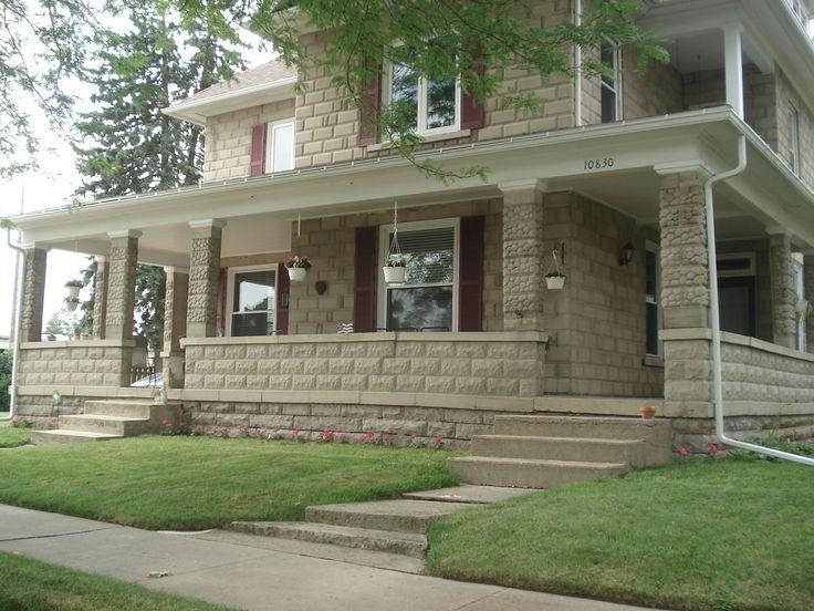 18 best cast concrete block houses images on pinterest for Concrete block homes