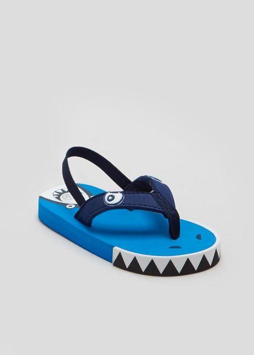 01e229852a0 Boys Shark Flip Flops (Younger 4-12)