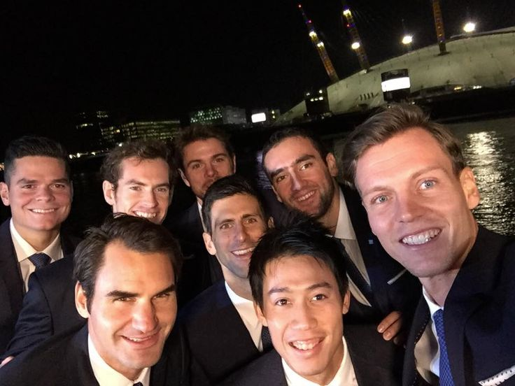 Best selfie ever? How many Grand Slam titles are in this picture?!